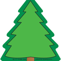 Mini Notepad - Fir Tree - Creative Shapes Etc.
