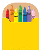 Mini Notepad - Crayon Box - Creative Shapes Etc.