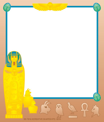 Mini Notepad - Egyptian / Lined - Creative Shapes Etc.