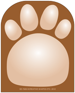Picture of Mini Notepad - Paw Print