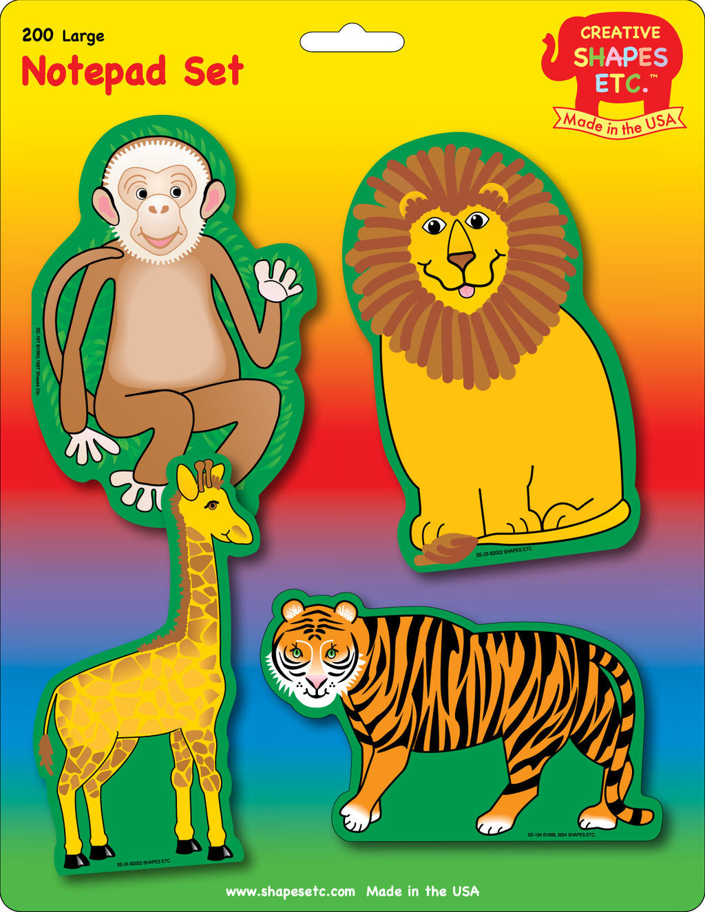 Large Notepad Set - Zoo - Creative Shapes Etc.