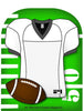 Mini Notepad - Football Jersey - Creative Shapes Etc.