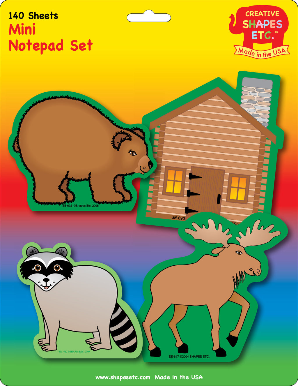 Mini Notepad Set - Great Outdoors - Creative Shapes Etc.