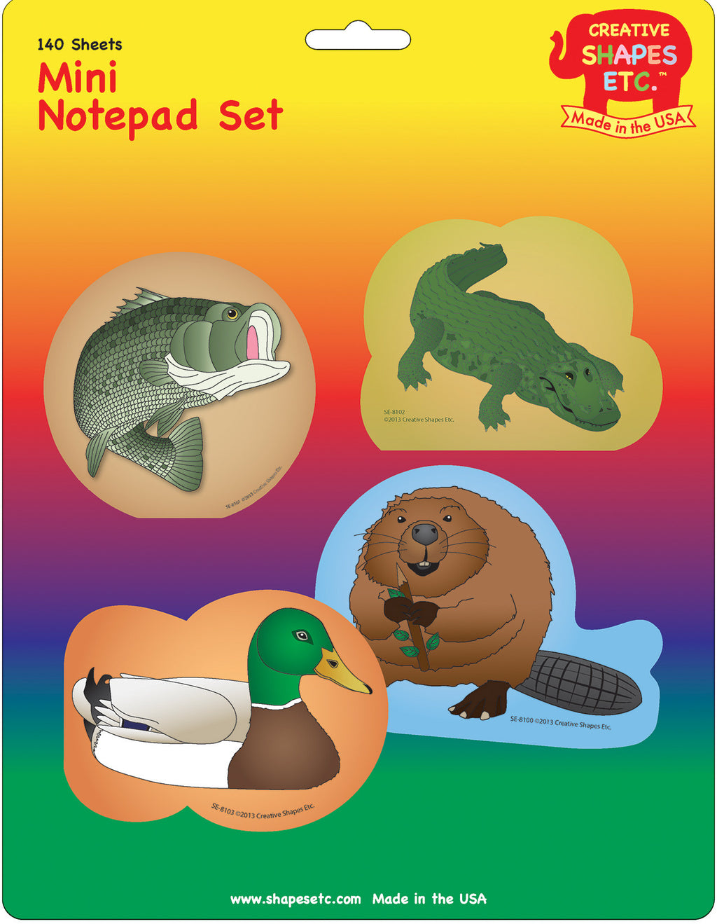 Mini Notepad Set - In-Season Water - Creative Shapes Etc.