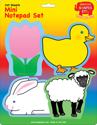 Mini Notepad Set - Easter - Creative Shapes Etc.