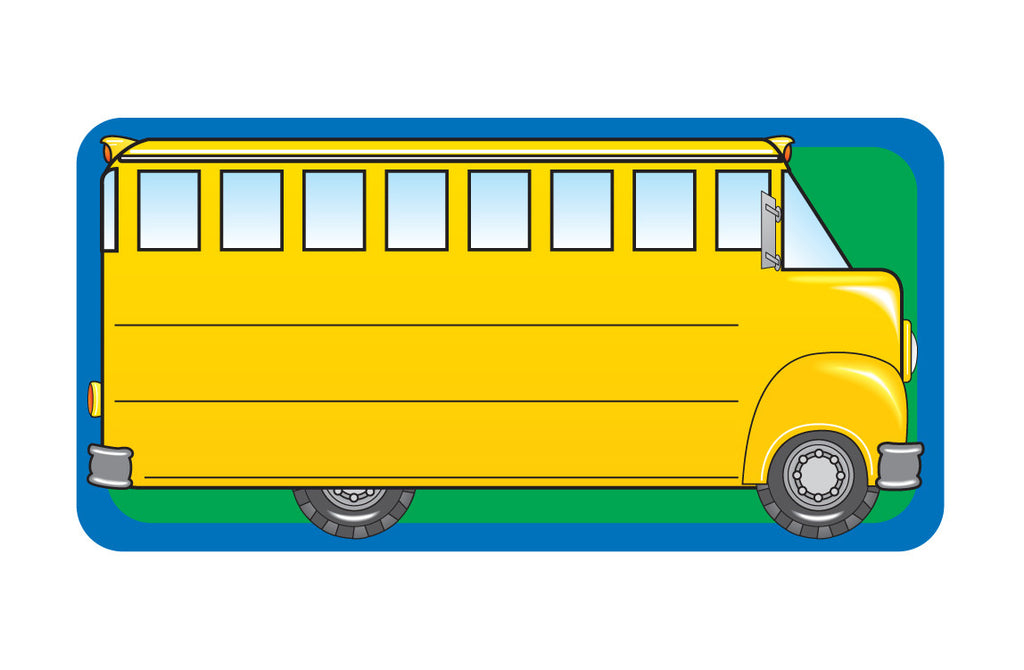 Nametag - School Bus - Creative Shapes Etc.