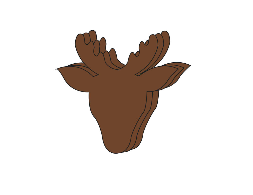 Large Single Color Creative Foam Cut-Outs - Reindeer