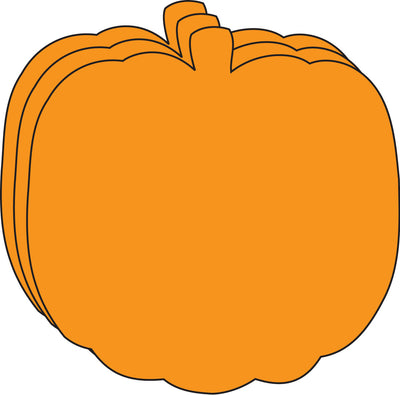 Large Single Color Cut-Out - Orange Pumpkin
