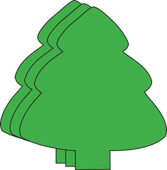 Large Single Color Creative Foam Cut-Outs - Evergreen Tree (SE-7406)