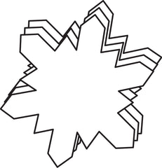 Large Single Color Creative Foam Cut-Outs - Snowflake (SE-7408)