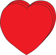 Large Single Color Creative Foam Cut-Outs - Heart (SE-7409)