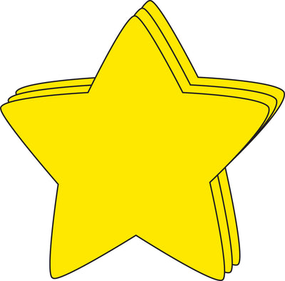 Star Large Single-Color Creative Cut-Outs- 5.5