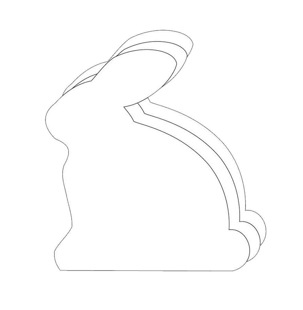 Large Single Color Cut-Out - Rabbit