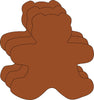 Large Single Color Creative Foam Cut-Outs - Teddy Bear - Creative Shapes Etc.