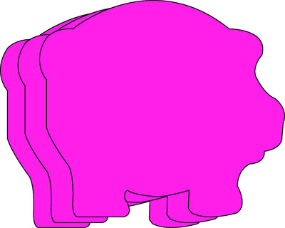Large Single Color Cut-Out - Pig - Creative Shapes Etc.