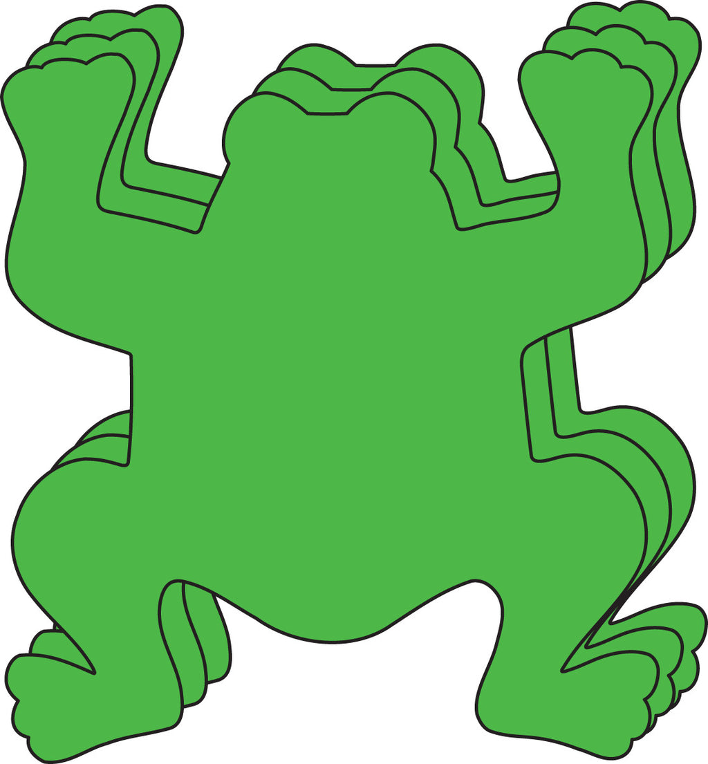 Large Single Color Creative Foam Cut-Outs - Frog