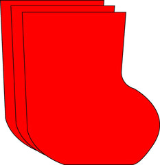 Large Single Color Cut-Out - Stocking
