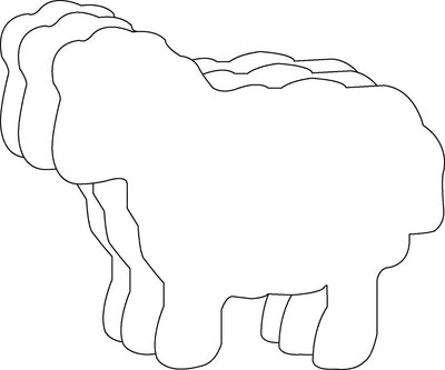 "5.5"" Sheep Single Color Creative Cut-Outs, 31 Cut-Outs in a Pack for Kids' Craft, Decorations, Spring, Farm, Religious Projects, School Craft Projects"