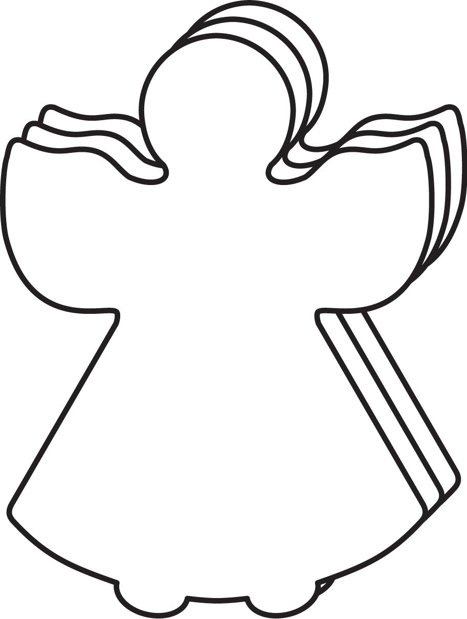Large Single Color Creative Foam Cut-Outs - Angel