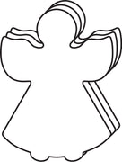 Large Single Color Cut-Out - Angel - Creative Shapes Etc.