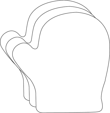 Picture of Large Single Color Cut-Out - Mitten