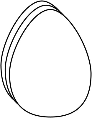 Large Single Color Cut-Out - Egg - Creative Shapes Etc.