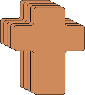 "Brown Cross Single Color Creative Cut-Outs- 5.5"" - Creative Shapes Etc."
