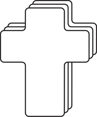 Large Single Color Cut-Out - Cross
