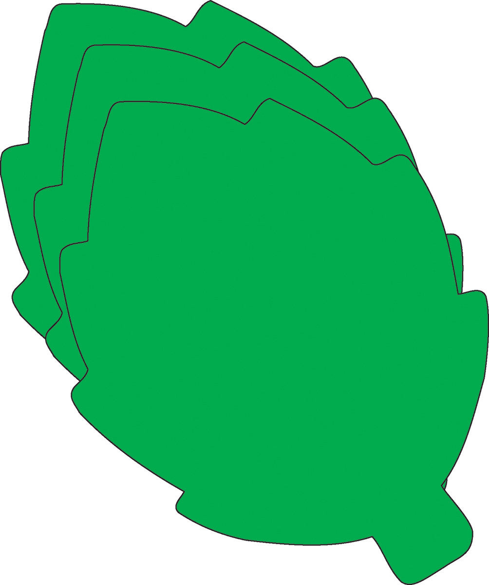 Large Single Color Cut-Out - Green Leaf - Creative Shapes Etc.