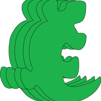 Large Single Color Creative Foam Cut-Outs - Gecko - Creative Shapes Etc.