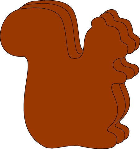 Picture of Large Single Color Cut-Out - Squirrel