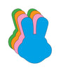 "Bunny With Ears Assorted Color Creative Cut-Outs- 5.5"" - Creative Shapes Etc."