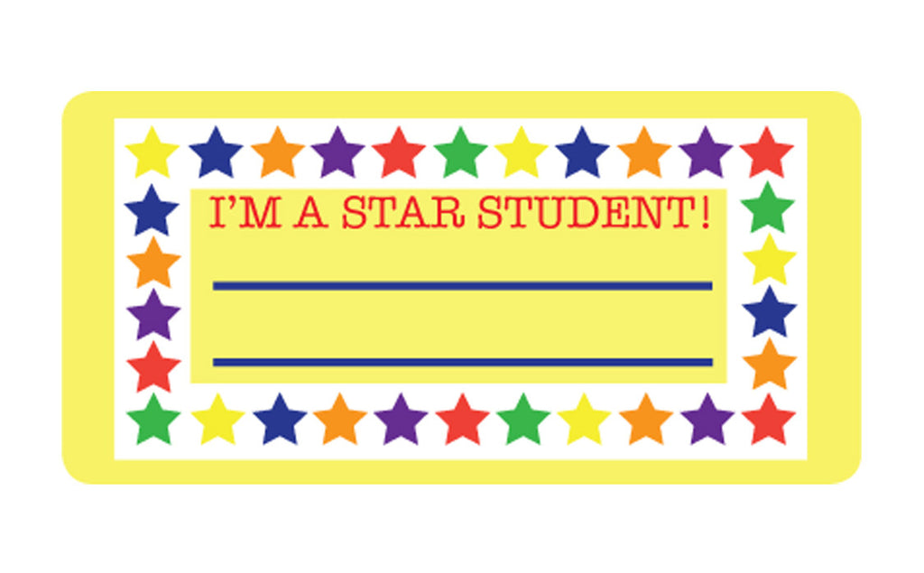Nametag - Star Student - Creative Shapes Etc.