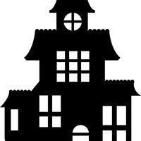 Large Single Color Cut-Out - Haunted House