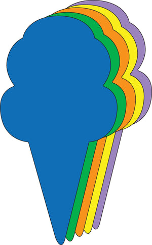 "Ice Cream Cone Assorted Color Creative Cut-Outs - 5.5"" - Creative Shapes Etc."