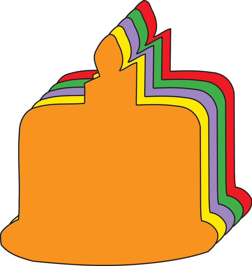 Large Assorted Color Creative Foam Cut-Outs - Birthday Cake - Creative Shapes Etc.
