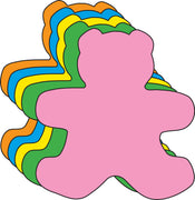 Large Assorted Color Creative Foam Cut-Outs - Teddy Bear - Creative Shapes Etc.