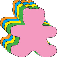 "Teddy Bear Assorted Color Cut-Outs- 5.5"" - Creative Shapes Etc."