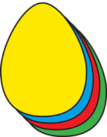 Egg Assorted Color Creative Cut-Outs- 5.5