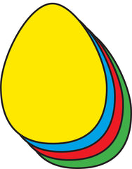 Large Assorted Color Creative Foam Cut-Outs - Egg (SE-7516)
