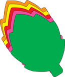 Leaf Assorted Color Creative Cut-Outs- 5.5""