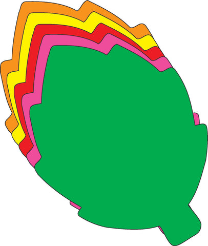 Picture of Large Assorted Color Creative Foam Cut-Outs - Leaf