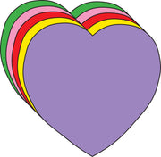 "Heart Large Assorted Color Creative Cut-Outs- 5.5"" - Creative Shapes Etc."