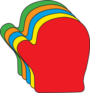 "5.5"" Mitten Assorted Color Creative Cut-Outs, 31 Cut-Outs in a Pack for Winter, Christmas, Crafts, Decorations, Kids' School Craft Projects"