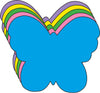 "Butterfly Assorted Color Creative Cut-Outs- 5.5"" - Creative Shapes Etc."