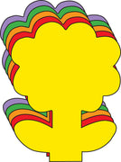 "Flower Assorted Color Creative Cut-Outs- 5.5"" - Creative Shapes Etc."