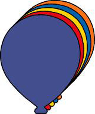 Balloon Assorted Color Creative Cut-Outs- 5.5