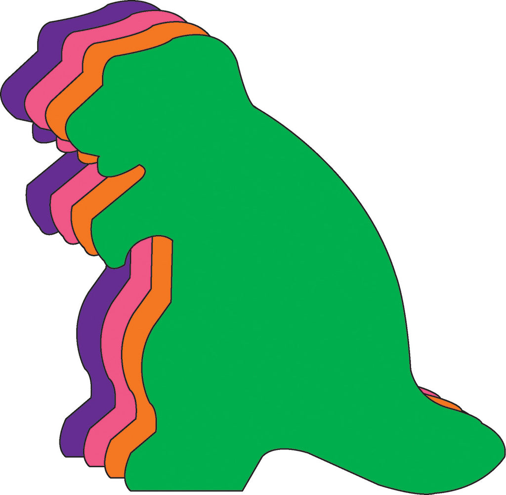"Dinosaur Assorted Color Creative Cut-Outs- 5.5"" - Creative Shapes Etc."