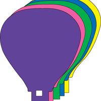 Large Assorted Color Creative Foam Cut-Outs - Hot Air Balloon - Creative Shapes Etc.