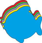 "Fish Assorted Color Creative Cut-Outs- 5.5"" - Creative Shapes Etc."
